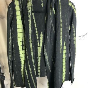 Black and green cardigan